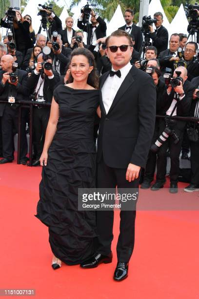 """Leila Conners and Leonardo DiCaprio attend the screening of """"Oh Mercy! """" during the 72nd annual Cannes Film Festival on May 22, 2019 in Cannes,..."""