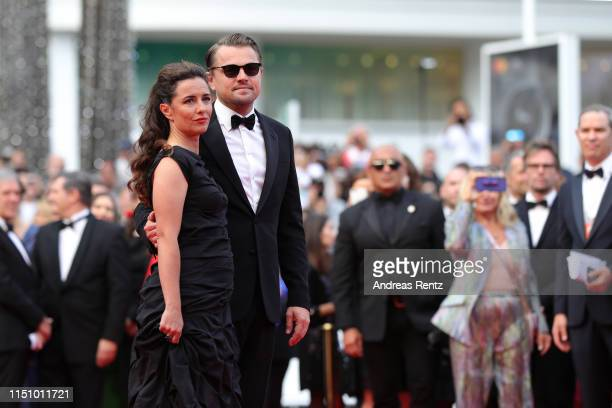 Leila Conners and Leonardo DiCaprio attend the screening of Oh Mercy during the 72nd annual Cannes Film Festival on May 22 2019 in Cannes France