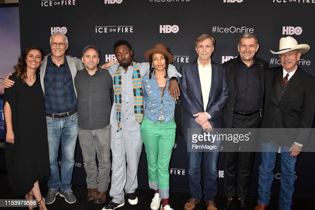 Leila Conners Paul Hawken Bren Smith Ietef Vita Alkemia Earth Thom Hartmann Martin Hermann and Don Schreiber attend the Los Angeles premiere of Ice...