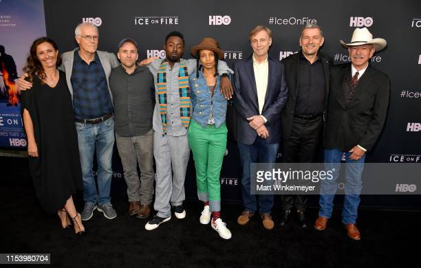 Leila Conners Paul Hawken Bren Smith Ietef Vita Alkemia Earth Thom Hartmann Martin Hermann and Don Schreiber attend the LA Premiere of HBO's 'Ice On...