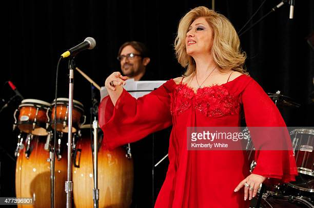 Leila Forouhar performs at the PARS Equality Center 4th Annual Nowruz Gala at Marriott Waterfront Burlingame Hotel on March 8 2014 in Burlingame...