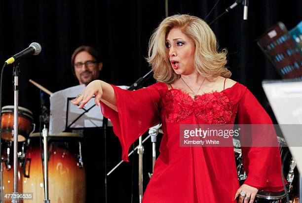Leila Forouhar sings at the PARS Equality Center 4th Annual Nowruz Gala at Marriott Waterfront Burlingame Hotel on March 8 2014 in Burlingame...
