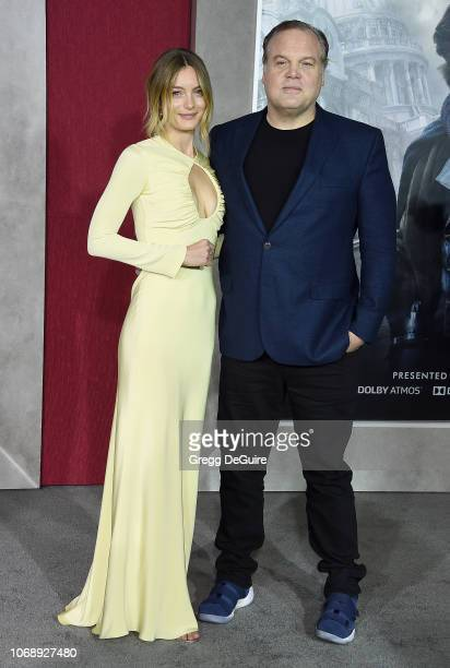 Leila George and dad Vincent D'Onofrio arrive at the Premiere Of Universal Pictures' Mortal Engines at Regency Village Theatre on December 5 2018 in...