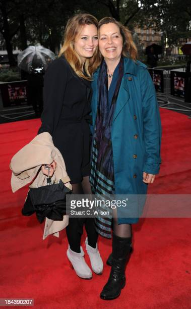 Leila George and Great Scacchi attends a screening of The Last Impresario during the 57th BFI London Film Festival at Odeon West End on October 13...