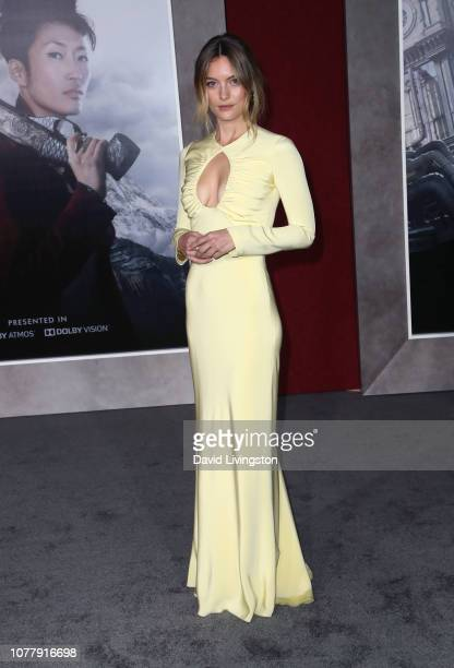 Leila George attends the premiere of Universal Pictures' Mortal Engines at the Regency Village Theatre on December 05 2018 in Westwood California
