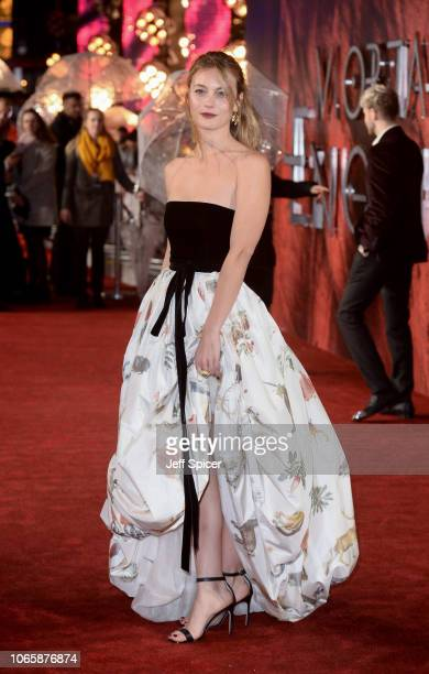 Leila George attends the World Premiere of Mortal Engines at Cineworld Leicester Square on November 27 2018 in London England