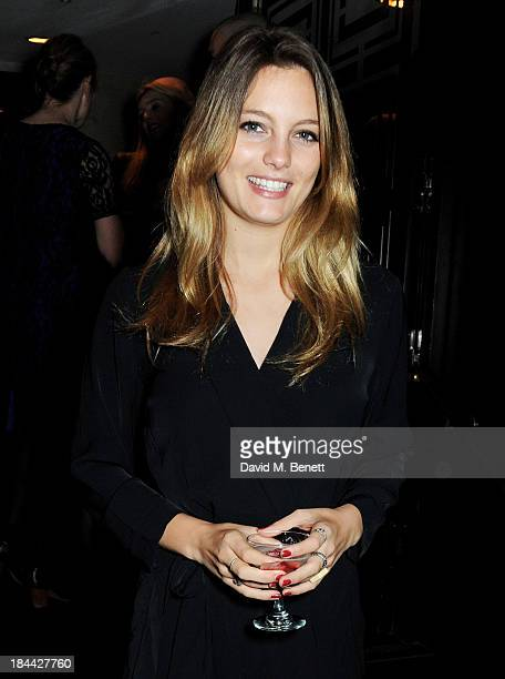 Leila George D'Onofrio attends a postscreening party for The Last Impresario during the 57th BFI London Film Festival at The Arts Club on October 13...