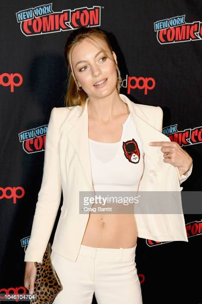 Leila George D'Onofrio attends the Mortal Engines panel during New York Comic Con 2018 at The Hulu Theater at Madison Square Garden on October 5 2018...