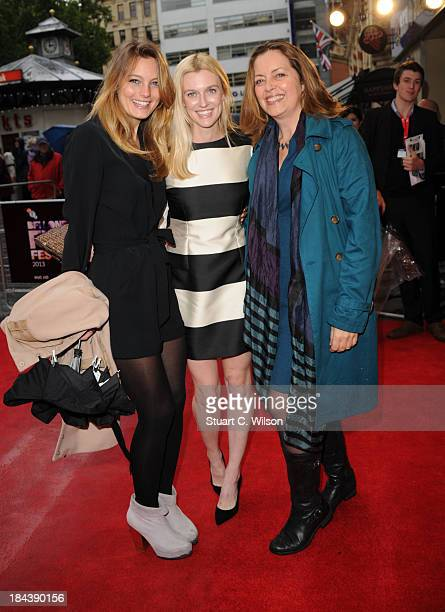Leila George Gracie Otto and Greta Scacchi attends a screening of The Last Impresario during the 57th BFI London Film Festival at Odeon West End on...