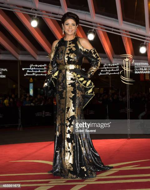Leila Hadioui attends the 'Sara' premiere at the 13th Marrakech International Film Festival on December 3 2013 in Marrakech Morocco
