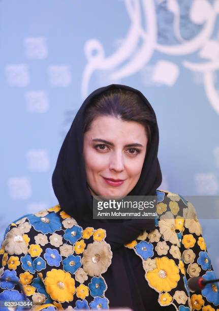 Leila Hatami attend a press conference during the 35th Fajr Film Festival on February 5 2017 in Tehran Iran