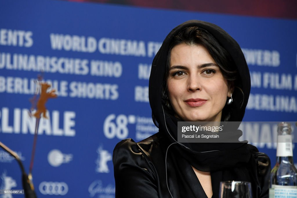 Leila Hatami attends the 'Pig' (Khook) press conference during the 68th Berlinale International Film Festival Berlin at Grand Hyatt Hotel on February 21, 2018 in Berlin, Germany.