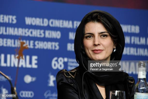 Leila Hatami attends the 'Pig' press conference during the 68th Berlinale International Film Festival Berlin at Grand Hyatt Hotel on February 21 2018...