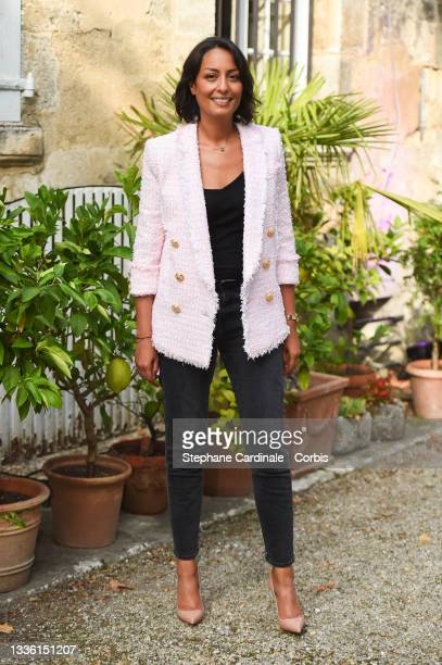 Leïla Kaddour attends the Jury photocall during the 14th Angouleme French-Speaking Film Festival on August 24, 2021 in Angouleme, France.