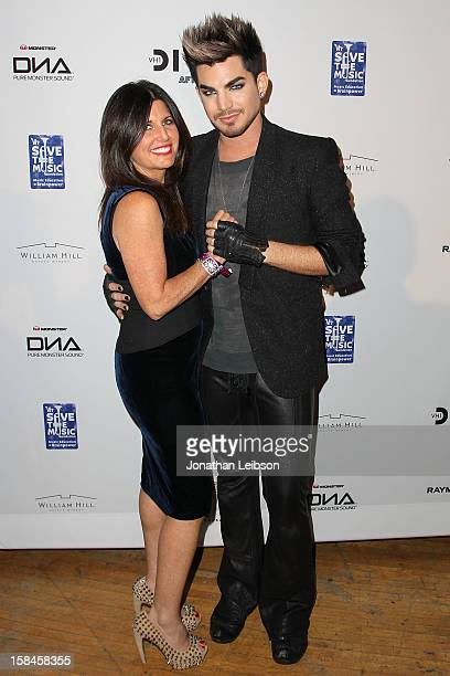 Leila Lambert and Adam Lambert attend the VH1 Divas After Party To Benefit The VH1 Save The Music Foundation at The Shrine Auditorium on December 16...