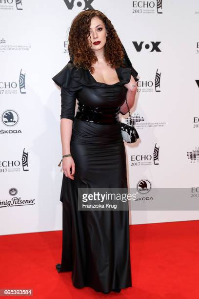 Leila Lowfire attends the Echo award red carpet on April 6 2017 in Berlin Germany