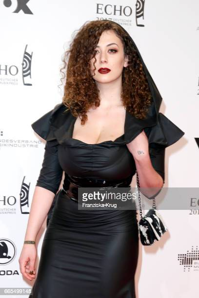 Leila Lowfire attends the Echo award red carpet on April 6, 2017 in Berlin, Germany.