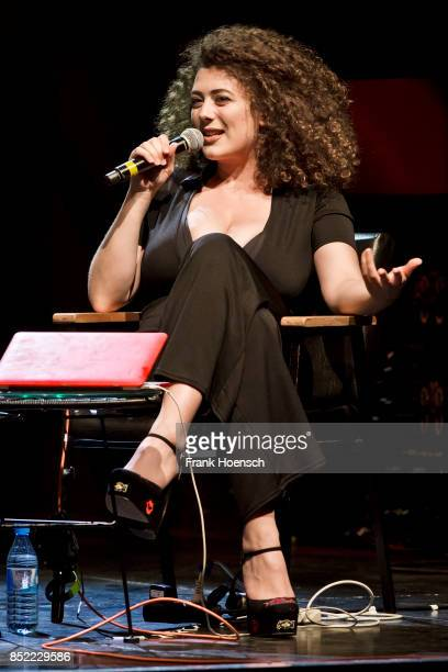 Leila Lowfire performs live on stage during the Show 'Sexvergnuegen' at the Columbia Theater on September 21, 2017 in Berlin, Germany.