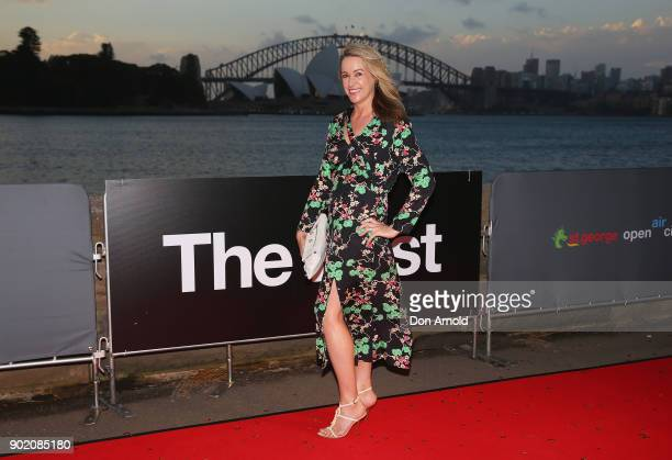 Leila McKinnon arrives at the Australian premiere of 'The Post' on opening night at the St George OpenAir Cinema at Mrs Macquaries Point on January 7...