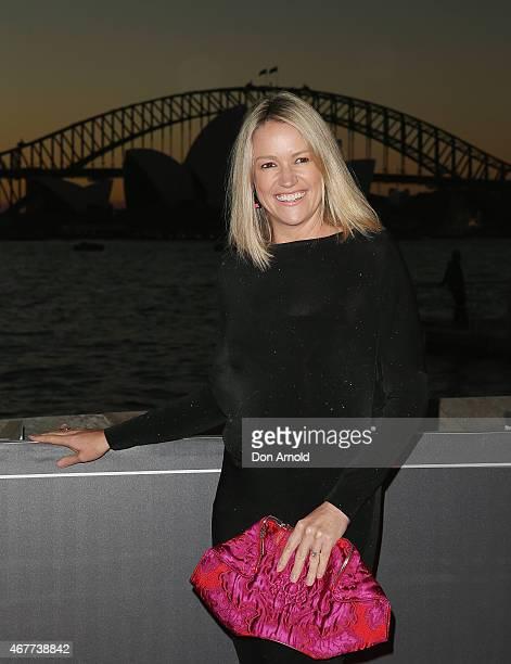 Leila McKinnon attends Handa Opera's Aida opening night at the Fleet Steps on March 27 2015 in Sydney Australia