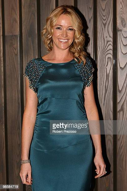 Leila Mckinnon attends the opening party of the Crown Metropol hotel on April 21 2010 in Melbourne Australia