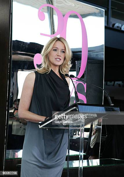 Leila McKinnon makes a speech at the launch of ACP Magazine's '30 Days of Fashion Beauty' a month long calendar of special events during September at...