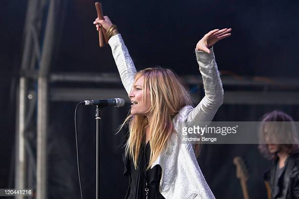 Leila Moss of The Duke Spirit performs on stage during the first day of YNot Festival 2011 on August 5 2011 in Matlock United Kingdom