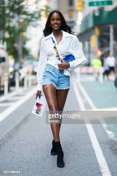 Leila Nda attends casting for the 2018 Victoria's Secret Fashion Show in Midtown on September 5 2018 in New York City