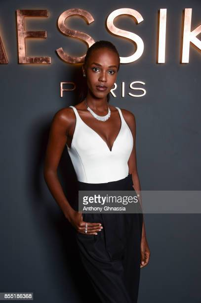 Leila NDA attends Messika cocktail as part of the Paris Fashion Week Womenswear Spring/Summer 2018 on September 27 2017 in Paris France