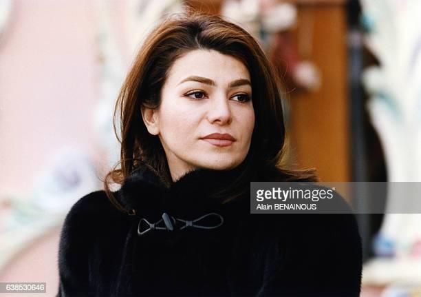 Leila Pahlavi fille du shah d'Iran et de l'eximpératrice Farah Diba lors d'une soirée le 31 janvier 1998 à Amsterdam PaysBas