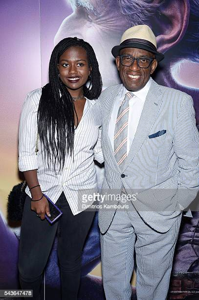 Leila Roker and Al Roker attend a screening of The BFG hosted by Disney the Cinema Society at Village East Cinema on June 29 2016 in New York City