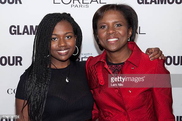 Leila Roker and Deborah Roberts attend the 2014 Glamour Women of the Year Awards at Carnegie Hall in New York City �� LAN