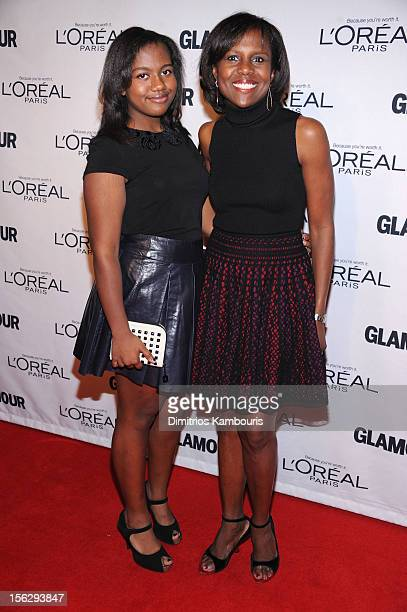 Leila Roker and Deborah Roberts attend the 22nd annual Glamour Women of the Year Awards at Carnegie Hall on November 12 2012 in New York City