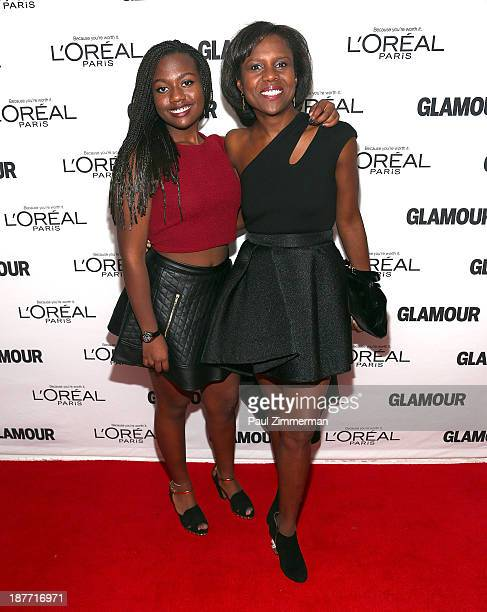 Leila Roker and Deborah Roberts attend the Glamour Magazine 23rd annual Women Of The Year gala on November 11 2013 in New York United States