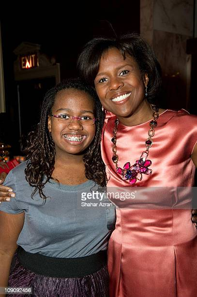 Leila Roker and her mother Deborah Roberts at the Dining with the Divas at The Apollo Theater on February 14 2011 in New York City