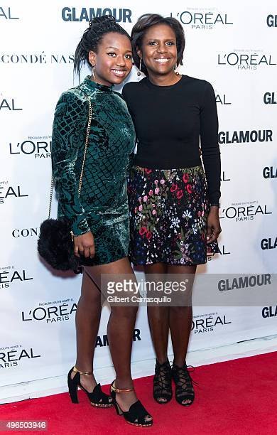 Leila Roker and mother Journalist Deborah Roberts attend Glamour's 25th Anniversary Women Of The Year Awards at Carnegie Hall on November 9 2015 in...