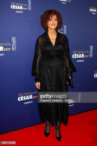 Leila Slimani arrive at the Cesar Film Awards 2017 ceremony at Salle Pleyel on February 24 2017 in Paris France