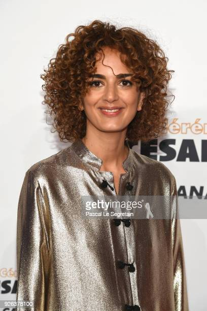 Leila Slimani arrives at the Cesar Film Awards 2018 at Salle Pleyel on March 2 2018 in Paris France