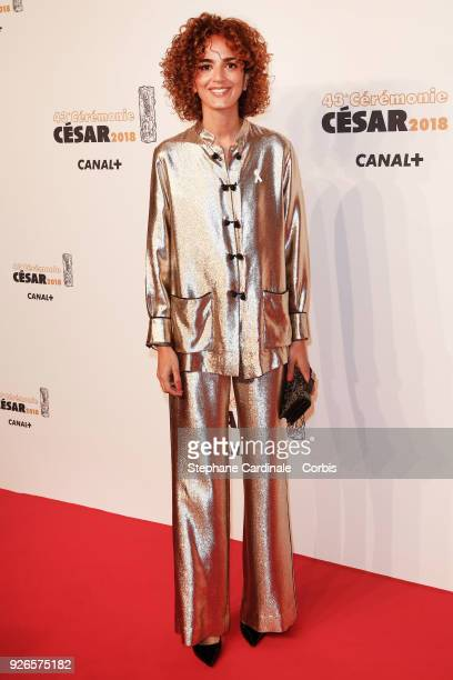 Leila Slimani arrives at the Cesar Film Awards 2018 at Salle Pleyel at Le Fouquet's on March 2 2018 in Paris France