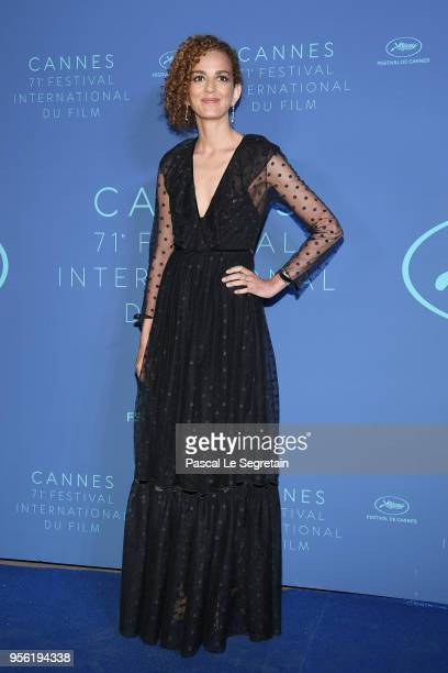 Leila Slimani arrives at the Gala dinner during the 71st annual Cannes Film Festival at Palais des Festivals on May 8 2018 in Cannes France