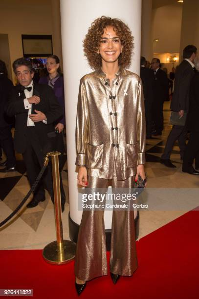 Leila Slimani at Salle Pleyel on March 2 2018 in Paris France