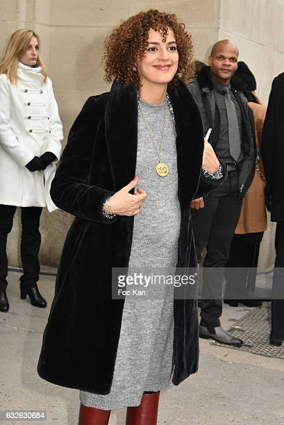 Leila Slimani attends the Chanel Haute Couture Spring Summer 2017 show as part of Paris Fashion Week on January 24 2017 in Paris France