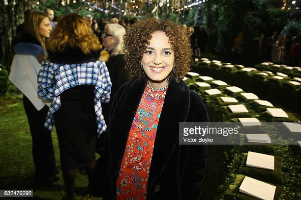 Leila Slimani attends the Christian Dior Haute Couture Spring Summer 2017 show as part of Paris Fashion Week at Musee Rodin on January 23 2017 in...