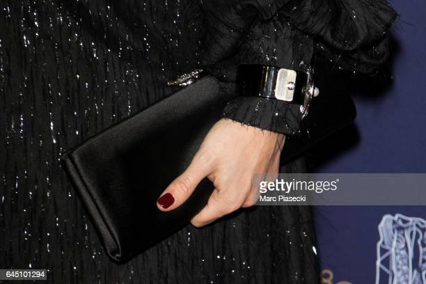 Leila Slimani clutch bag detail attends the the Cesar Film Awards 2017 ceremony at Salle Pleyel on February 24 2017 in Paris France