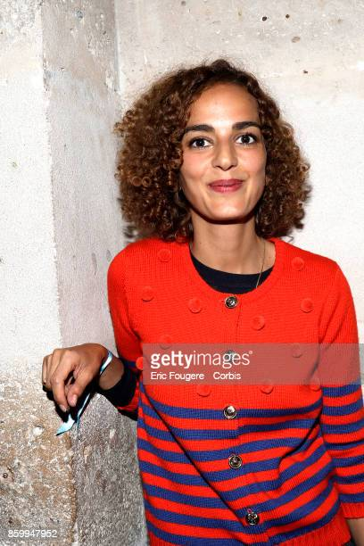 Leila Slimani poses during a portrait session in Paris France on