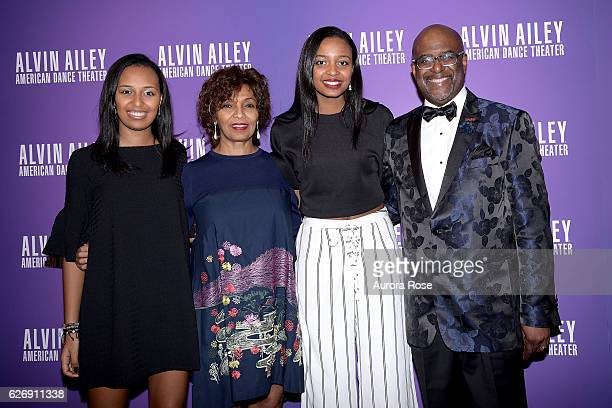 Leila Strachan Almaz Strachan Sabele Strachan and Marc Strachan attend Alvin Ailey American Dance Theater Opening Night Gala Benefit 'An Evening of...