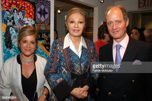 Leila TaghiniaMilani Heller Her Majesty Empress Farah Pahlavi and Henry Heller attend LEILA TAGHINIAMILANI HELLER GALLERY Presents GEORG GERSTER...
