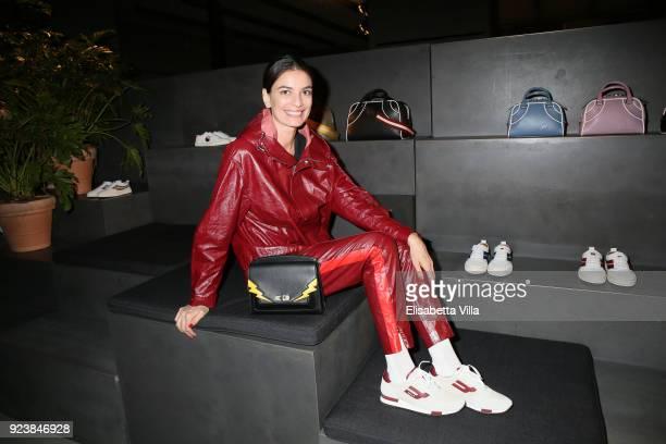 Leila Yavari attended the Bally Autumn Winter 2018 Press Presentation during Milan Fashion Week on February 24 2018 in Milan Italy