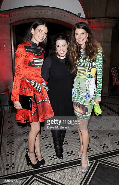 Leila Yavari designer Mary Katrantzou and founder of the Emdash Foundation Andrea Dibelius attend a private dinner hosted by Matthew Slotover and...
