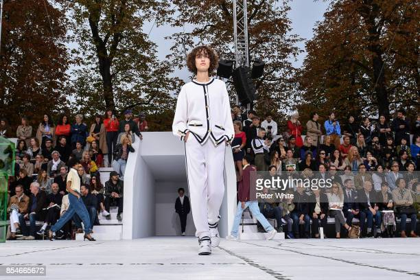 Leila Zandonai walks the runway during the Lacoste show as part of the Paris Fashion Week Womenswear Spring/Summer 2018 on September 27 2017 in Paris...